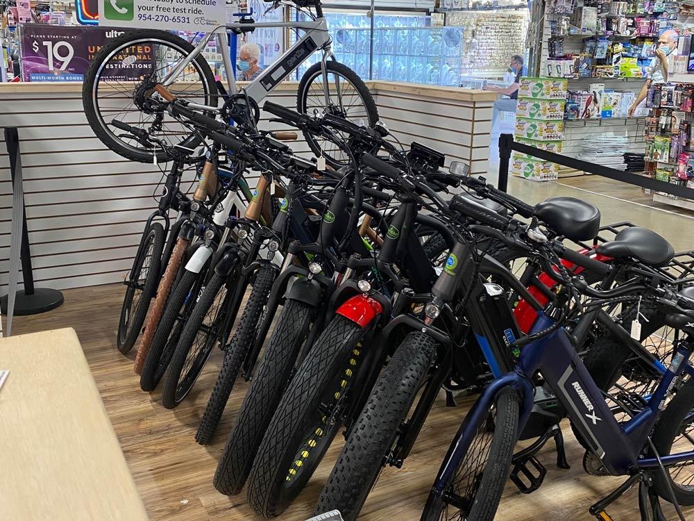 Electric Bikes Plus stacked Kiosk